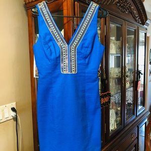 Lilly Pulitzer Eliot Shift In Blue Current NWT